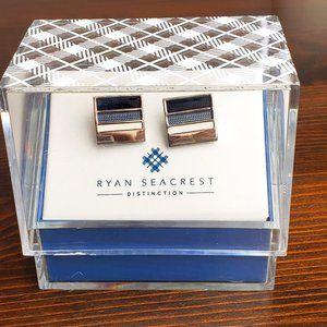 New Ryan Seacrest Distinction Men Cuff Links Blue